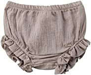 Mornbaby Baby Girl's Bloomers Cotton Ruffle Panty Diaper Covers Underwear Shorts Toddler Kids G