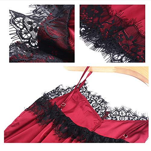 Camicie Meaeo Color Da Da Da Camicie In Notte Photo In Lingerie Seta Notte Femminile Notte In Da Camicia Pizzo Estiva Camicie Abiti Raso Sexy Casa rxvrUqSnz