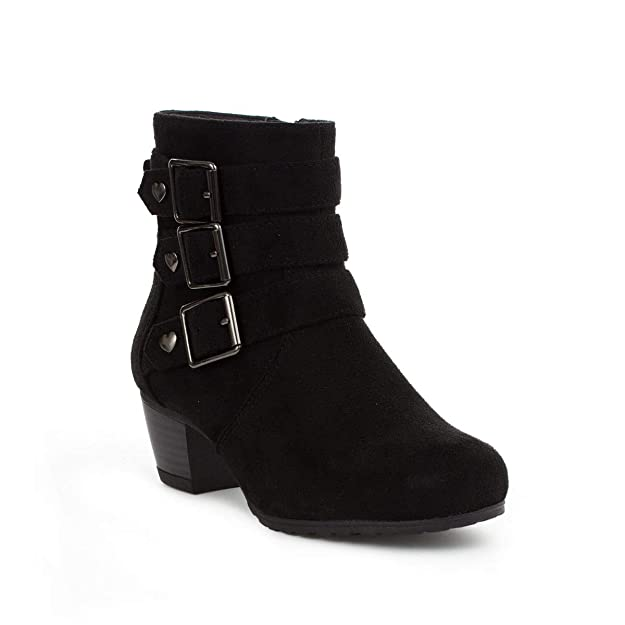 Lilley Girls Black Heeled Ankle Boot by Lilley