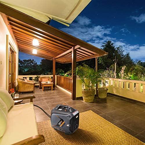 TACKLIFE Generador inversor portátil, 2250 vatios de sobretensión, generador al aire libre con tanque de gasolina de 4 litros, válvula aérea, modo ecológico, distorsión armónica del 1, 2%, para camping, pesca, etc.: Amazon.es: Jardín
