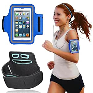 Blue Sports Jogging Running Gym Armband Holder Case Cover For Sony Xperia C S39h C2305