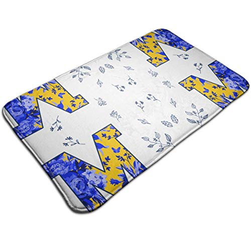 Michigan Industrial Shoe - Xixioou M is for Michigan Waterproof Indoor Outdoor Entrance Doormat Rug Floor Mats Shoe Scraper Doormat with Non Slip Backing,19.5x31.5 Inch