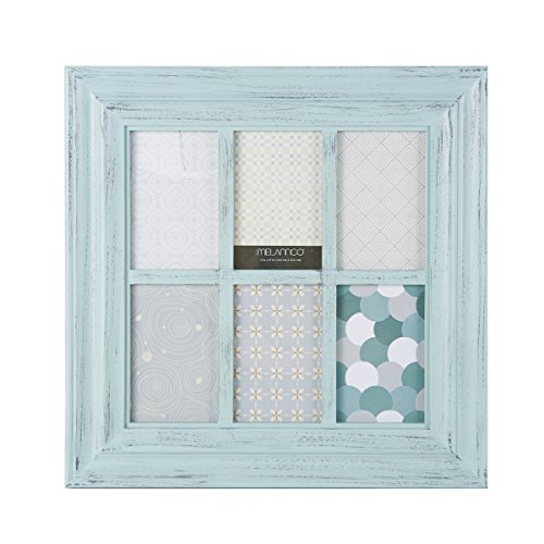 Window Frame - MELANNCO 6-Opening Window Pane Wall Mount Collage Picture Frame