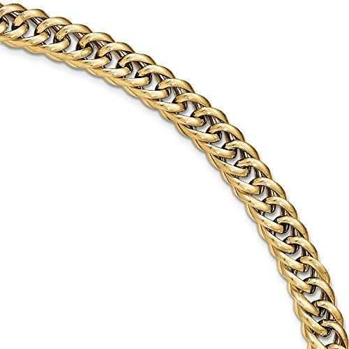 """Bracelet poli 14 carats - 8 """"- JewelryWeb"""