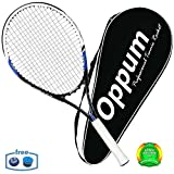 oppum Adult Carbon Fiber Tennis Racket, Super Light Weight Tennis Racquets Shock-Proof and Throw-Proof,Include Tennis Bag Tennis Overgrip