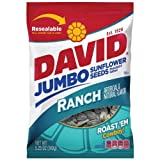 David Seeds Jumbo Ranch Sunflower Seeds, 5.25 Ounce Bag (Pack of 12)