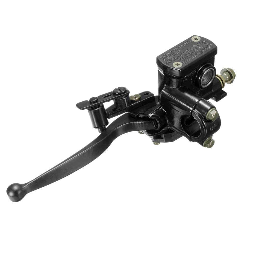 7//8 Left Brake Master Cylinder for GY6 50cc 125cc 150cc 200cc Scooter Moped ATV Dirt Bikes Hydraulic Brake Lever Master Cylinder