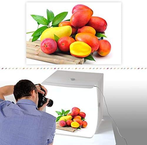 Amzdeal Faltbares Fotostudio 40 6 X 40 6 Cm Kamera