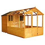 12x6 Wooden Tongue & Groove Combi Greenhouse with Shed, Windows, Single Door, Styrene T&G, Apex Roof, 12ft 6ft, Free 3-5 Day Delivery + 10 Year Guarantee From Waltons