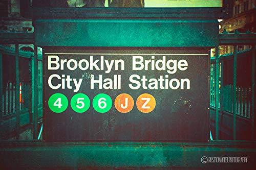 Brooklyn Bridge, City Hall Subway Station, New York City Photography, NY Print, Brooklyn Bridge Art, Manhattan Print, NYC Art, Wall Art, Sizes Available from 5x7 to 20x30.