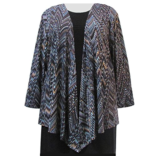 A Personal Touch Women's Plus Size Natural Rain Forest Drape Cardigan Sweater - 1X