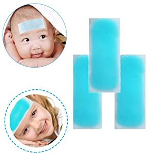 Cubyee Premium Cooling Gel Patches, [10pcs] Cooling Forehead Strips, Sustainable[8 Hours] Relieve Fever\ Headache \Toothache Pain \Muscle Ache \Drowsiness\ Fatigue\ Sunstroke etc.