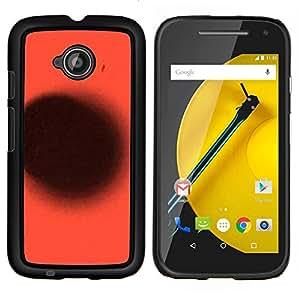 EJOOY---Cubierta de la caja de protección para la piel dura ** Motorola Moto E2 E2nd Gen ** --Planet Deep Red Punto Negro abstracto