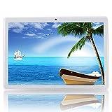"Android Tablet 10 inch Unlocked Widescreen Tablet Dual Sim Sard Slots, 10.1"" Andriod Tablet PC Dual Camera Quard-Core Processor, 32GB Storage Unlocked"
