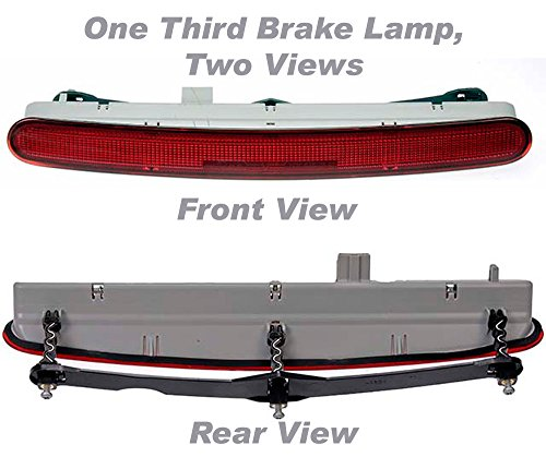 APDTY 034366 Third 3rd Center High Mount Brake Light Lamp Assembly For 1998-2010 Volkswagen Beetle (Hatchback Model Only)(Upgraded LED Design) (Replaces VW 1C0945097E) - Back Lamp