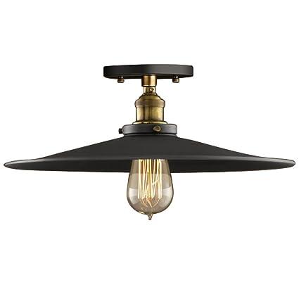 1282f4cd09a Amazon.com  OOFAY Loft Vintage Ceiling Light Round Retro Ceiling Lamp  Industrial Design Edison Bulb Antique Lampshade Ambilight Lighting Fixture