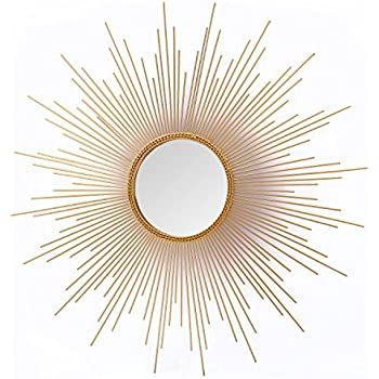 Asense Home Collection Sunburst Mirror, Classic Metal Decorative Wall Mirror (Sunburst)