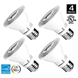 4-Pack of Hyperikon® PAR20 LED Bulb, 8W (50W equivalent), 3000K (Soft White Glow®), CRI93+, Flood Light Bulb, 40° Beam Angle, Medium Base (E26), Dimmable, UL-Listed and Energy Star®-Qualified