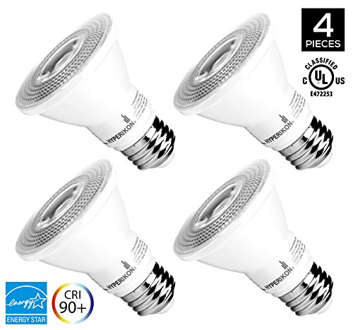 12 Led Spot Bulb (Hyperikon PAR20 Dimmable LED Bulb, 8W (50W equivalent), 3000K (Soft White Glow), CRI90+, Flood Light Bulb, 40° Beam Angle, Medium Base (E26), ENERGY STAR & UL Listed - (Pack of)