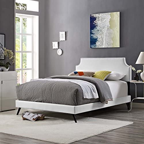 Modway Corene Faux Leather Upholstered King Platform Bed Frame