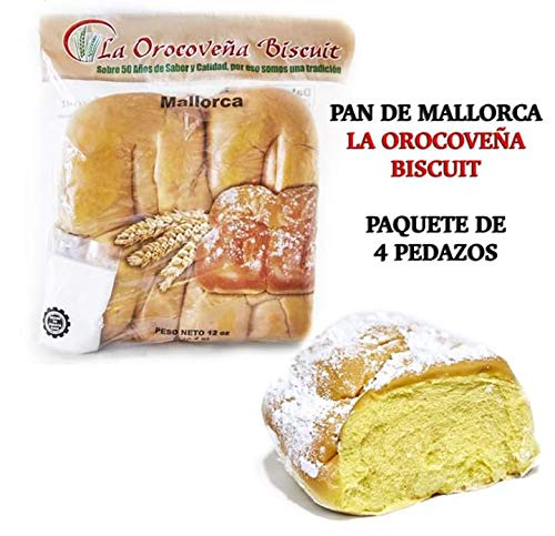 1 Pack of Puerto Rican Sweet Rolls (Mallorcas) by La Orocoveña Biscuit