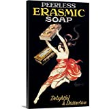 Vintage Apple Collection Premium Thick-Wrap Canvas Wall Art Print entitled Peerless Erasmic Soap - Vintage Advertisement