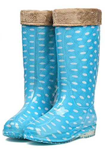 SATUKI Adult Womens Antiskid Rubber Shoes Rain Boots