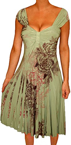 [Funfash Plus Size Clothing for Women Empire Waist Sleeveless Slimming Cocktail Dress] (Cheap Plus Size Fancy Dress)