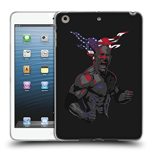 Official WWE American Power The Rock Soft Gel Case for Apple iPad mini 1 / 2 / 3 (Wwe Display Case compare prices)