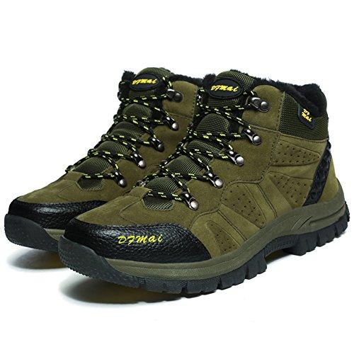 BETY Chaussures de Randonnée pour Homme Femme Outdoor Sports Cuir Imperméable Boots Marche Vert CLiWH94g