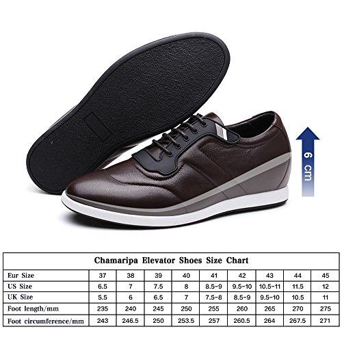 Homme Marron Rehaussantes Chamaripa Hautes Chaussures 6 Cm Grandit En De Cuir h62305k051d Sneakers 4Wnp7BcW