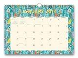 Orange Circle Studio 2019 Deluxe Wall Calendar, August 2018 - December 2019, Botanicals