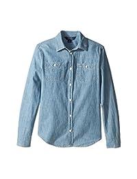 Ralph Lauren Girls Long Sleeves Chambray Shirt