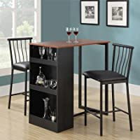 24 3-Piece Counter Height Dining Set with Storage, Espresso