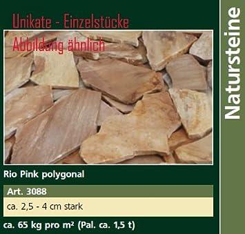 Ca Tonnen Rio Pink Polygonal Steinplatten Ca Kgm² Ca - Steinplatten 2 cm stark