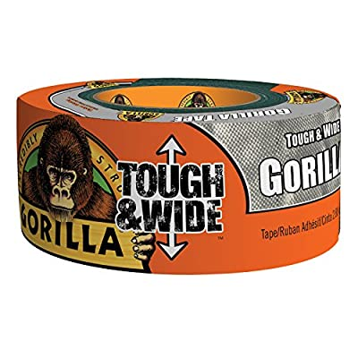 Gorilla Tape, Tough & Wide Silver Duct Tape from Gorilla