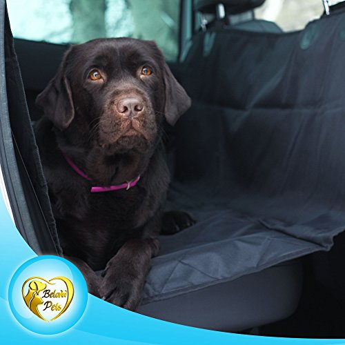 Pad F250 - Beloved Pets Seat Cover for Dogs & Cats – Waterproof, Non-Slip, Machine Washable Cover & Hammock – Protects Back Seat from Hair & Dirt – for All Size Dogs - Trucks