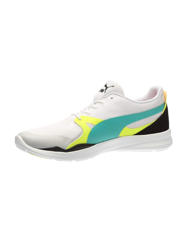 White-Spectra Green-Puma Black Sneakers