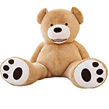 YunNasi 98'' Light Brown Giant Teddy Bear Plush Stuff Animal Toy American Huge Bear