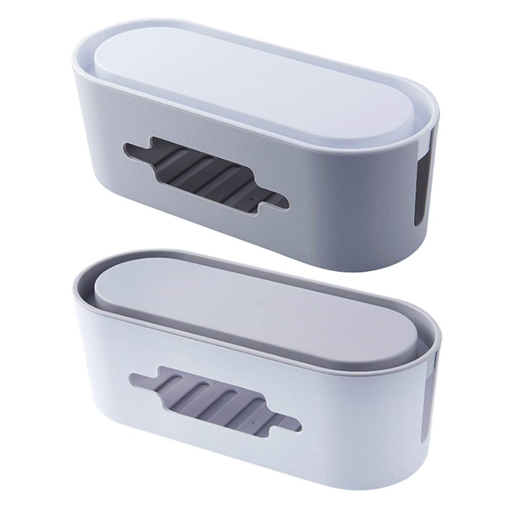 Yooan Wire Socket Storage Box with Smart Phone Holder pluggable Data Cable Management Box line Home Computer Lightning Protection TV Computer Management Box by Yooan (Image #3)