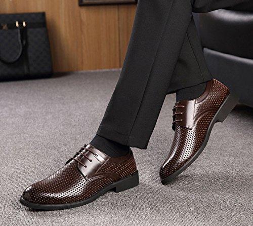 Lavoro Brown Scarpe da da Uomo Moda Uomo Cravatta da Sandali Traspiranti tnwvHqaBzz