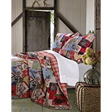 Greenland Home 3 Piece Rustic Lodge Quilt Set, Full/Queen
