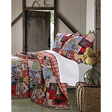 Greenland Home 3 Piece Rustic Lodge Quilt Set, King