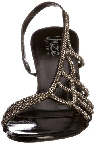 Unze Evening Sandals L18197W - Sandalias para mujer Negro
