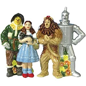 Westland Giftware Wizard of Oz Magnetic Four Friends Salt and Pepper Shaker Set, 4-1/2-Inch