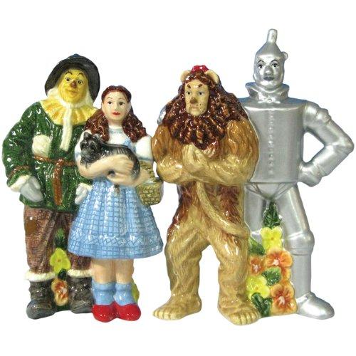 Westland Giftware Wizard of Oz Magnetic Four Friends Salt and Pepper Shaker Set, ()