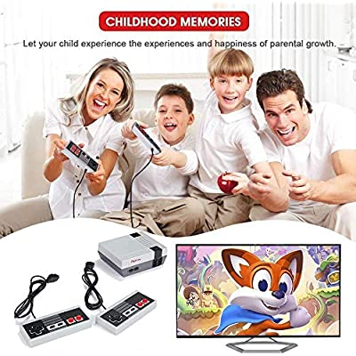 PANDA100 Mini Classic Games Console,Retro Games Console with Built-in 620,Video Game for Kids/Adults: Toys & Games