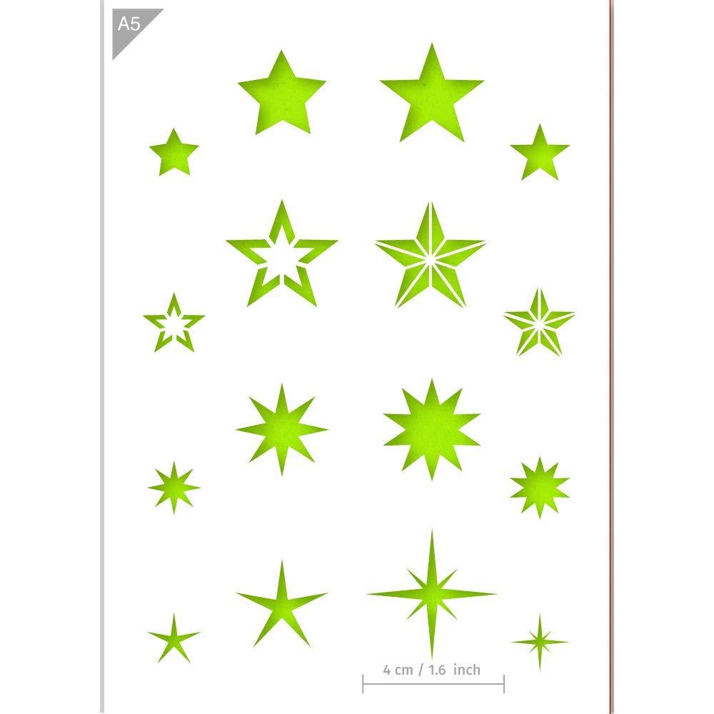 in plastica in formato A5 efco Stampi a stella trasparenti confezione da 6