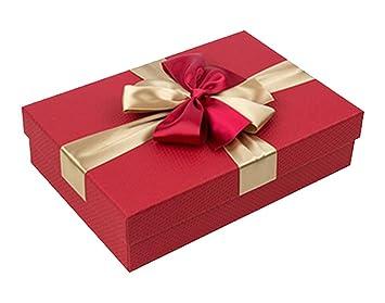 cheerlife Caja de Regalo Rectangular con lazo regalo caja regalo Cumpleaños San Valentín Regalo Buzón regalo