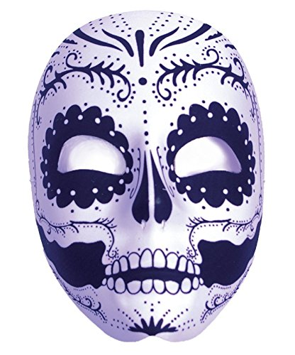 Day Of The Dead Holiday Mask Full (Dia Del Los Muertos Costume)